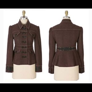 Elevenses- Gramercy Brown Military Jacket